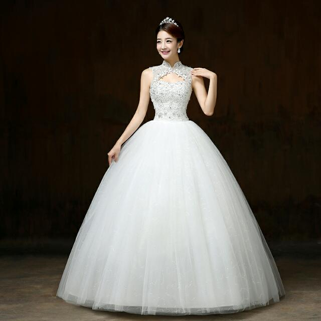 New Autumn And Winter A Line Wedding Dress Korean Style Simple ...